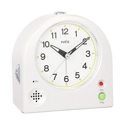 セイコー クロック 目覚まし時計 アナログ 録音 再生 機能つき PYXIS ピクシス 白 パール NR433W SEIKO