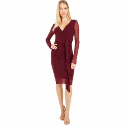 ファジー FUZZI レディース ワンピース ワンピース・ドレス Solid Side Ruffle Dress Vino