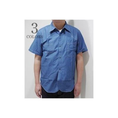 フェローズ 半袖 シャンブレーシャツ PHERROW'S CHAMBRAY WORK SHIRT 20S-775WSS