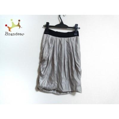 ボディドレッシングデラックス スカート サイズ36 S レディース ベージュ×黒 プリーツ/ラメ       スペシャル特価 20201005