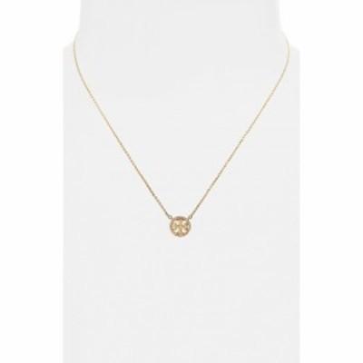 トリー バーチ TORY BURCH レディース ネックレス ジュエリー・アクセサリー Pave Logo Pendant Necklace Tory Gold/Crystal