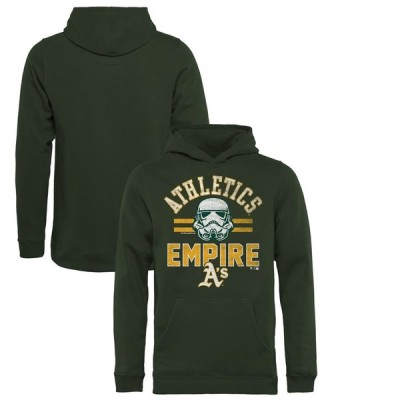 オークランド・アスレチックス Fanatics Branded Youth MLB Star Wars Empire Pullover Hoodie - Green