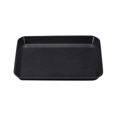調理小物 バット / (小)デリカバット 黒 尺0寸 寸法: 30 x 28 x 3.4cm
