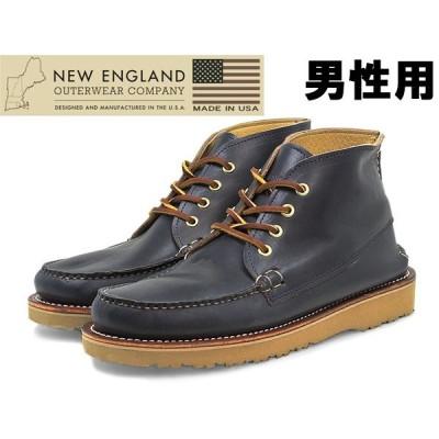 訳あり品 ニューイングランド クォーター ブーツ 40032-NAVY 男性用 ネイビー 26.5cm US8.5 NEW ENGLAND ne004