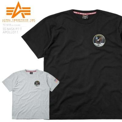 セール39%OFF!ALPHA アルファ TC1418 NASA アポロ11 半袖Tシャツ メンズ カットソー ナサ ミリタリー ブランド 春 夏 新作【クーポン対象外】