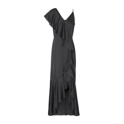8 by YOOX ロングワンピース&ドレス ブラック 38 ポリエステル 97% / ポリウレタン 3% ロングワンピース&ドレス