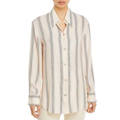 ヴィンス レディース シャツ トップス Variegated Striped Shirt