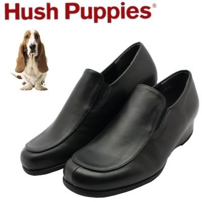 ハッシュパピー レディース ウエッジソール パンプス L-6561 Hush puppies 靴 クロ