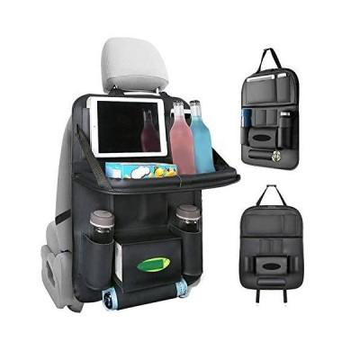 車用シートバックポケット Apsung 車用収納ポケット シートバックポケット 1個 後部座席収納 折り畳みテープ付