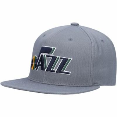 """ミッチェル&ネス メンズ キャップ """"Utah Jazz"""" Mitchell & Ness Central Snapback Hat - Charcoal"""