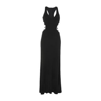 LE PIACENTINI ロングワンピース&ドレス ブラック 40 アセテート 80% / ナイロン 20% ロングワンピース&ドレス