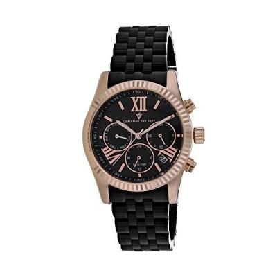 (新品) Christian Van Sant Women's Blisse Quartz Stainless Steel Strap, Black, 20 Casual Watch (Model: CV0623)