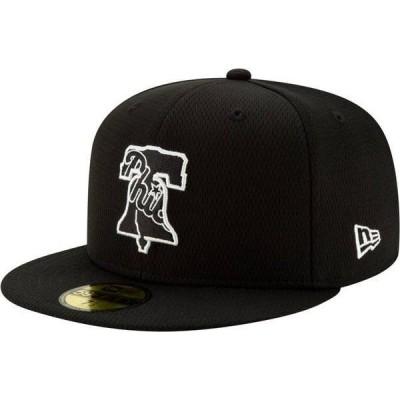 ニューエラ メンズ 帽子 アクセサリー New Era Men's Philadelphia Phillies 59Fifty Black Batting Practice Fitted Hat