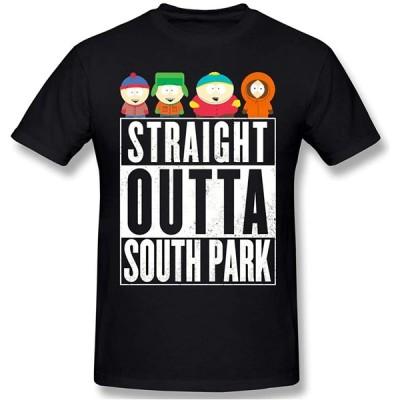 Max-GH サウスパーク メンズ コットン 半袖 クルーネック Tシャツ Sou-th Park M