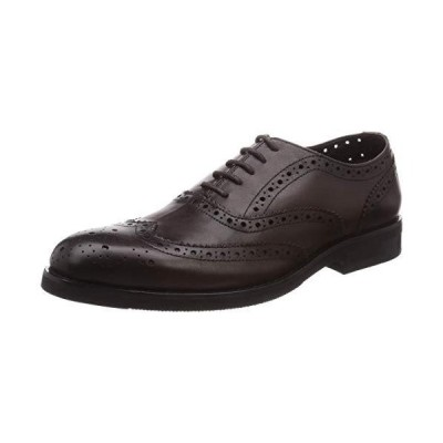 BlueSea ビジネスシューズ 本革 本革靴 ウィングチップ パーフォ穴 ジャパンデザイン BS-004 メンズ ダークブラウン 25.0