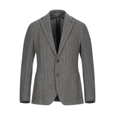 PINO LERARIO 02-05 テーラードジャケット ブラック 48 ウール 34% / リネン 29% / コットン 23% / ナイロン