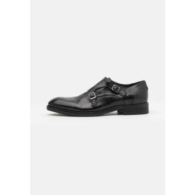 ハドソンロンドン メンズ 靴 シューズ GABLE - Slip-ons - black
