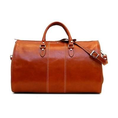新品Venezia Garment Duffle Travel Bag Suitcase in Brown Full Grain Leather