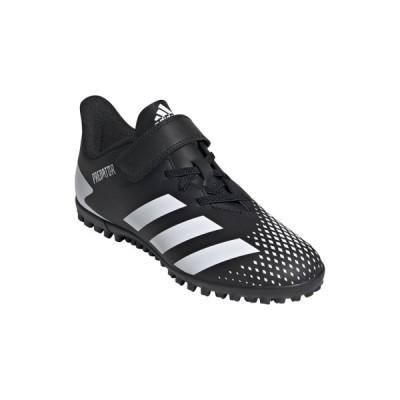 アディダス プレデター20.4TFJベルクロ JR トレーニングシューズ PLEDATOR FW9225 ジュニア キッズ・子供 サッカー 2E : ブラック×ホワイト adidas