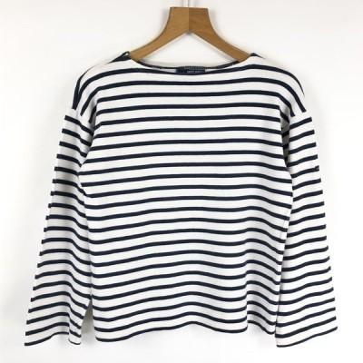 【古着】 SAINT JAMES セントジェームス マリンボーダーTシャツ バスクシャツ ホワイト系 レディースM 【中古】 n023820