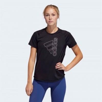アディダス adidas レディース フィットネス・トレーニング Tシャツ トップス Tech Badge Of Sport T-Shirt Black/White