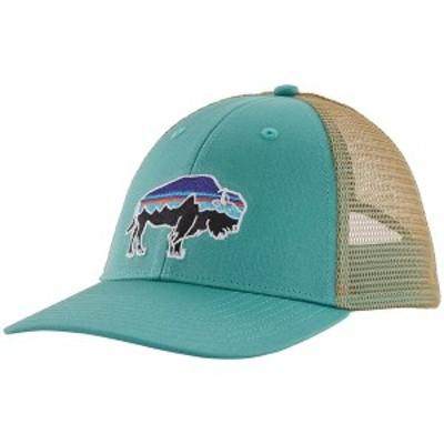 パタゴニア メンズ 帽子 アクセサリー Patagonia Fitz Roy Bison LoPro Trucker Hat Light Beryl Green