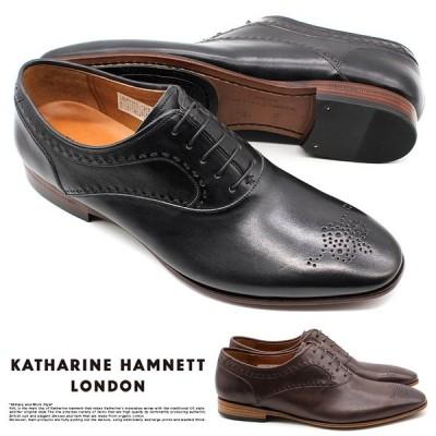 【サイズ交換1回無料 】キャサリンハムネット 靴 ビジネスシューズ 革靴 紳士靴 メンズ 本革 メダリオン KATHARINE HAMNETT 31630