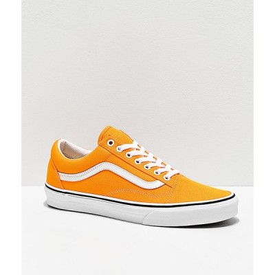 ヴァンズ VANS メンズ スケートボード シューズ・靴 old skool neon blaze orange & white skate shoes Orange