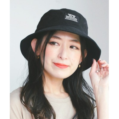 14+(ICHIYON PLUS) / フロントタグツイルバケットハット WOMEN 帽子 > ハット