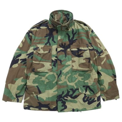 90年代 U.S.ARMY M-65 フィールドジャケット ウッドランドカモ フォース 4thモデル 米軍 ミリタリー サイズ表記:M-SHORT