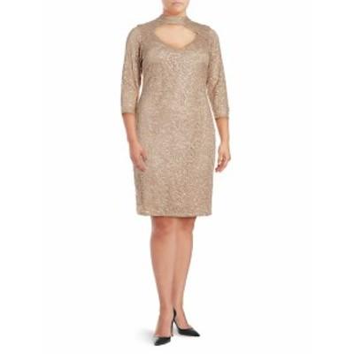 マリーナ レディース ワンピース Cutout-Front Lace Dress
