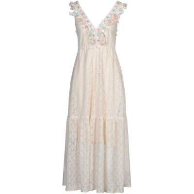CARE OF YOU ロングワンピース&ドレス アイボリー S/M ナイロン 60% / コットン 40% ロングワンピース&ドレス