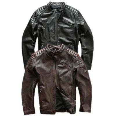 本革ジャケット 牛革 革ジャケット 本革 レザージャケット  本革バイクジャケット 革ジャン メンズ