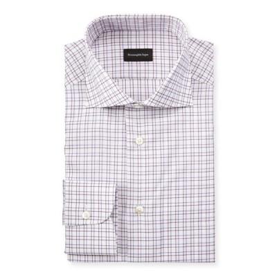 エルメネジルド・ゼニア メンズ シャツ トップス Men's Check Dress Shirt