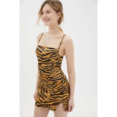 モーテル Motel レディース ボディコンドレス タイト ミニ丈 ワンピース・ドレス Betta Bodycon Mini Dress Tiger Print