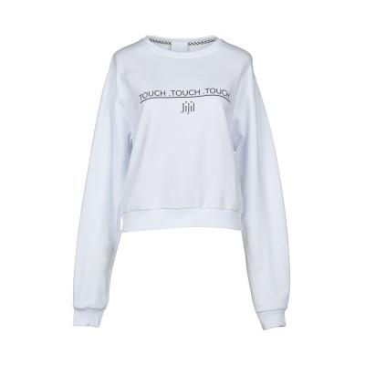 ジジル JIJIL スウェットシャツ ホワイト L コットン 100% スウェットシャツ