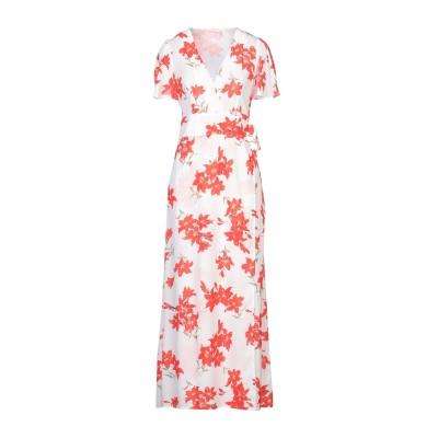 TRAFFIC PEOPLE ロングワンピース&ドレス ホワイト XS ポリエステル 100% ロングワンピース&ドレス