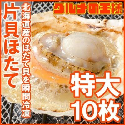 ホタテ ほたて 特大 片貝ほたて 10枚入り (殻付きほたて 帆立 貝 バター焼き 浜焼き バーベキュー BBQ 業務用 築地市場 ギフト)