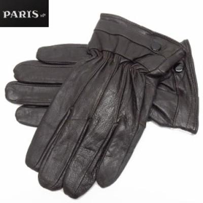 ◆手袋◆PARIS16e 羊革/シープスキン チョコ茶 メンズ グローブ メール便可 LAM-N06-BR