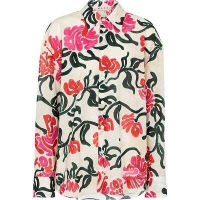 マルニ Marni レディース ブラウス・シャツ トップス Floral cotton shirt Snow