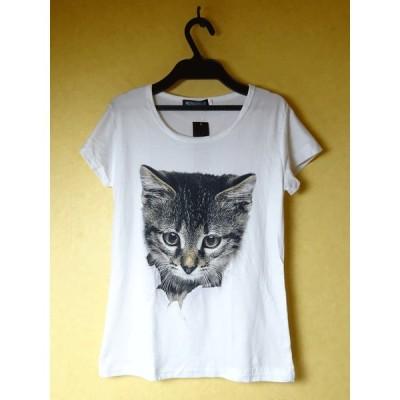 Tシャツ レディース ネコだ!(M)