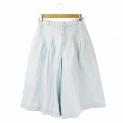 【中古】ロートレアモン LAUTREAMONT Droite lautreamont パンツ スカーチョ ワイド ひざ丈 1 水色 ライトブルー