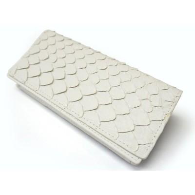 ホワイトパイソン紳士長財布 ST-002WH 金運財布