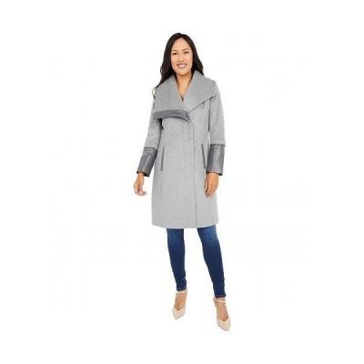 Via Spiga ヴィアスピーガ レディース 女性用 ファッション アウター ジャケット コート ウール・ピーコート Wing Collar Asymmetrical Wool Coat - Light Grey