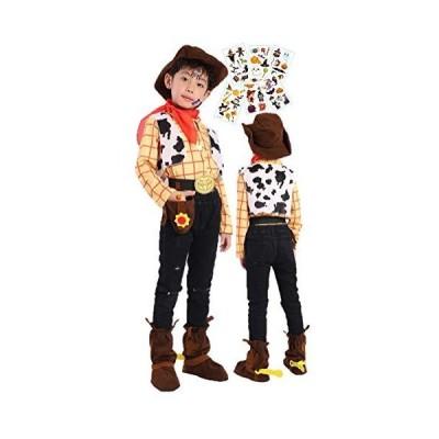 【映える】 ディズニー ウッディ風 コスプレ 衣装 男の子 ハロウィン キッズ 子供 仮装 コスチューム ハロウィ
