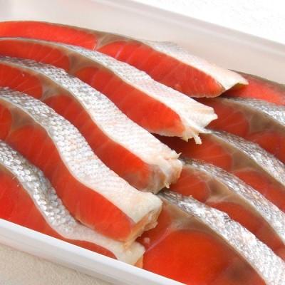紅鮭切身10切セット 北海道 取り寄せ ギフト
