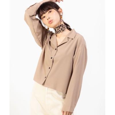 WEGO / WEGO/オープンカラークロップドシャツ WOMEN トップス > シャツ/ブラウス
