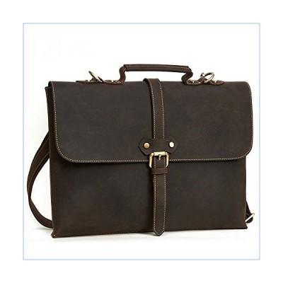 ZHBWJSH Men's Briefcase Business Fashion Tote Leather Men's Bag Top Leather Shoulder Bag Messenger Bag (Color : Brown)並行輸入品