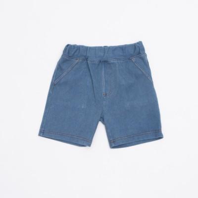 コムサイズム COMME CA ISM ジャージーデニム グルカパンツ(80・90サイズ) (ブルー)
