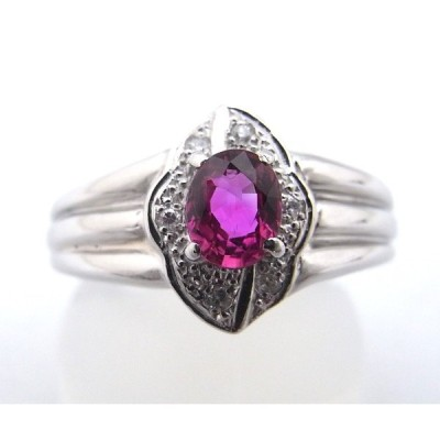 【仕上げ済み】【中古】【程度A】【美品】 指輪 リング Pt900 ルビー ダイヤモンド